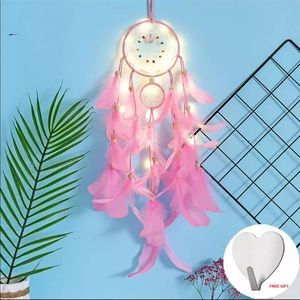 NEw Wall Dreamcatcher Led Handmade Feather Dream
